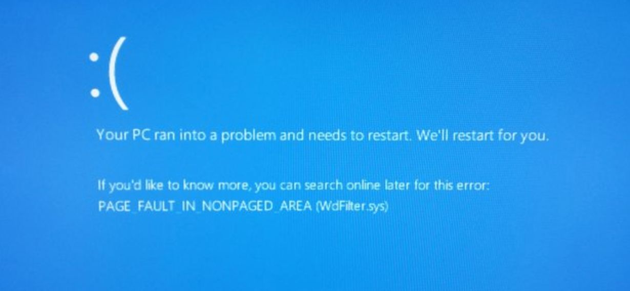page fault in nonpaged area bsod